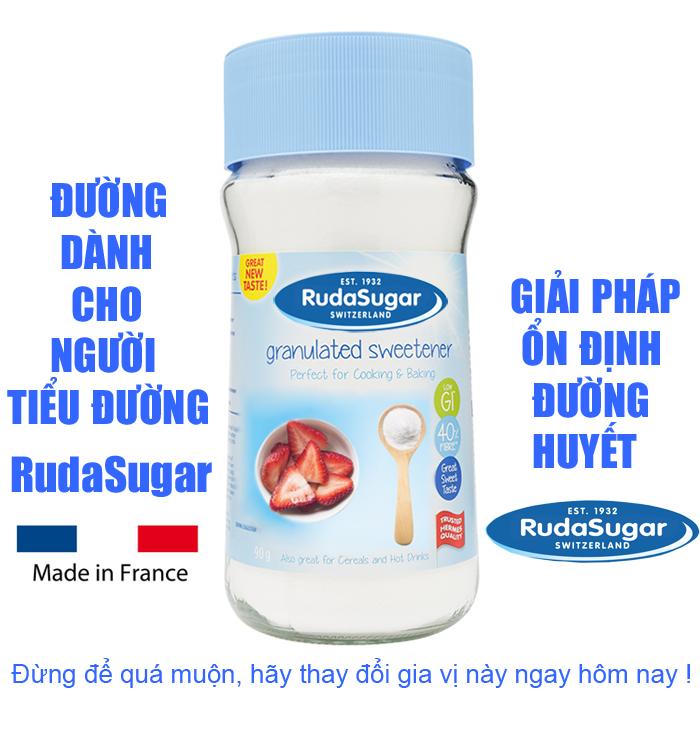 Đường dành cho người tiểu đường RudaSugar ( Lọ 90g )